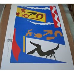 "Henri Matisse ""Le Cirque"" Lithograph of Color Stencil from the Jazz Collection 1947 plate II"