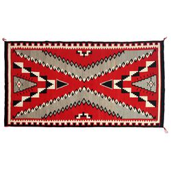 Navajo Ganado Red Weaving, 118 x 64, 1950s