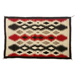 Navajo Eye Dazzler Weaving, 67 x 41, 1920s