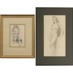 Edward Burns Quigley, two drawings