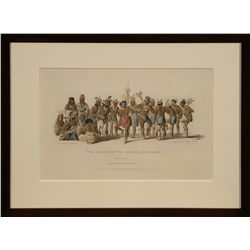Peter Rindisbacher, hand colored lithograph
