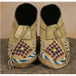 Apache Child's Moccasins, 19th century