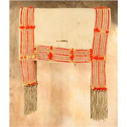 Sioux Quilled Saddle Blanket, circa 1900