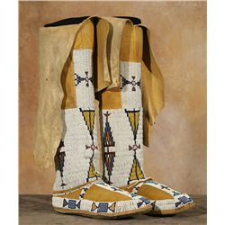 Southern Plains Moccasins and Leggings, 19th century
