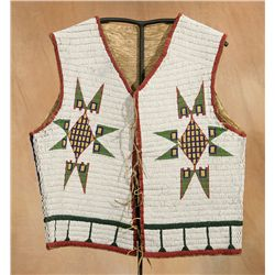 Sioux Pictorial Beaded Vest, 1876