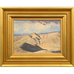 Maynard Dixon, oil on board
