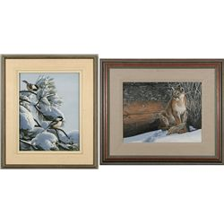 Ron S. Parker, two paintings