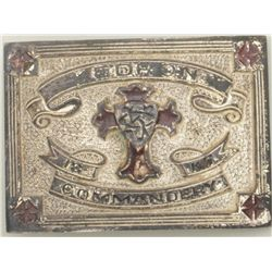 "Old fraternal or lodge belt buckle marked  ""Kedron Commandery"" in overall good  condition.  Est.:  $"