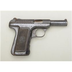 "Savage Model 1905 semi-auto pistol, .32 cal.,  3-3/4"" barrel, blue finish, checkered black  hard rub"