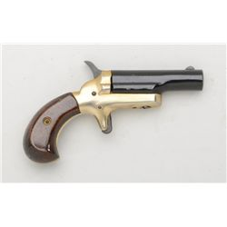 "Modern Colt single shot derringer, .22 short  cal., 2-1/2"" barrel, black and nickel finish,  wood gr"