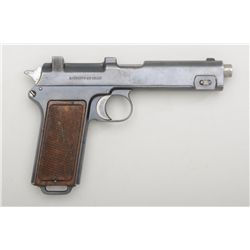 "Chilean Steyr-Hahn Model 1911/1912 semi-auto  pistol, 9mm cal., 5"" barrel, military blue  finish, ch"