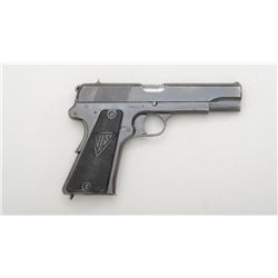 "Radom VIS Model 35 semi-auto pistol, 9mm  cal., 4-1/2"" barrel, Waffenamt inspector's  mark, military"