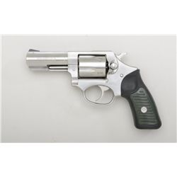 "Ruger Model SP-101 DA revolver, .38 Special  cal., 3"" barrel, stainless steel, black hard  rubber gr"