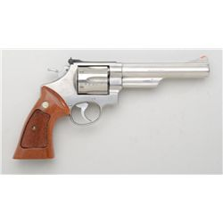 "Smith & Wesson Model 629-1 DA revolver, .44  Mag. cal., 6"" barrel, stainless steel,  checkered comba"
