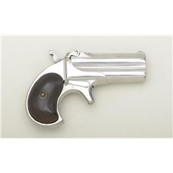 "Remington O/U derringer .41 cal., 3"" barrels,  bright finish to metal, checkered black hard  rubber"