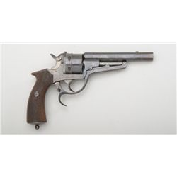 "Unique Belgian C.F. Galand Model 1872 DA  revolver, 12mm cal., 5-3/4"" barrel (including  one inch ex"
