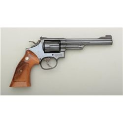 "Smith & Wesson Model 19-5 DA revolver, .357  Magnum cal., 6"" barrel, blue finish,  checkered combat"