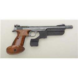 "Swiss Hammerli Olympia target pistol, .22LR  cal., 9"" barrel including integral  muzzlebrake, barrel"