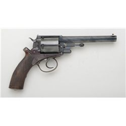 "NWMP-shipped Adams Patent DA large frame  revolver, .455 cal.,6"" octagon barrel, old  re-blued finis"