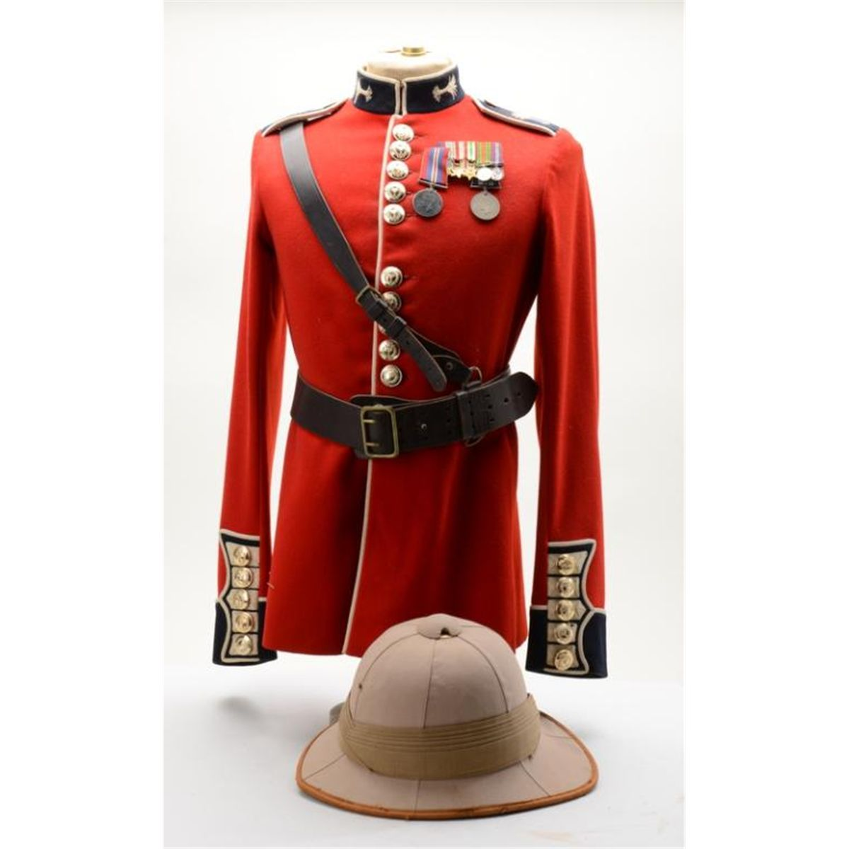 "Classic ""Red Coat"" British dress uniform jacket, likely for India ..."