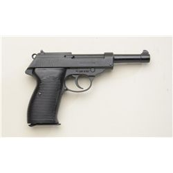 "American Arms Co. Model P98 DA semi-auto  pistol, .22LR cal., 5"" barrel, black mat  finish, grooved"