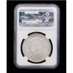NGC slabbed and graded MS 64 U.S. Liberty  Head silver dollar dated 1902-O.Est.:   $40-$80.