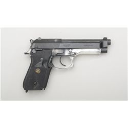 Taurus PT 92 AF DA semi-auto pistol, no  magazine, black finish, Pachmayr wrap around  combat grips,
