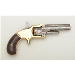 "Standard tip-up brass frame spur trigger  revolver, .30 cal., 3"" barrel, wood grips,  #4954. This gu"