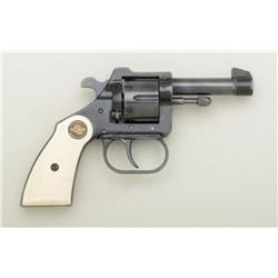 "RG 10 small DA revolver, .22 short cal.,  2-1/2"" barrel, blue finish, faux ivory  checkered grips, #"