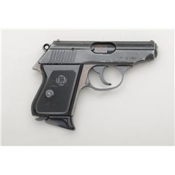 "Iver-Johnson DA semi-auto pistol, .22 cal.,  3"" barrel, blue finish, checkered black  plastic grips,"