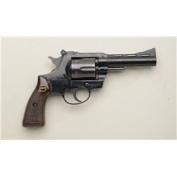 "German-made Rohm Model 38 T DA revolver, .38  Special cal., 4"" barrel, black finish,  checkered brow"