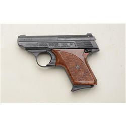 "RG Model 26 semi-auto pocket pistol, .25  cal., 2-3/4"" barrel, black finish, checkered  brown plasti"