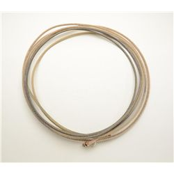 Braided lasso in overall good condition; a  great decorator for the Western-theme or tac  room.  Est