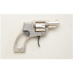 Baby Hammerless Ejector model revolver, .22  cal., 1-1/2 barrel, nickel finish, no grips,  #45. Thi