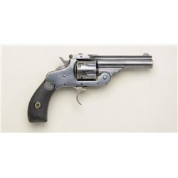 "H & R Premier Model DA top break revolver,  .22 rimfire cal., 3"" barrel, blue finish,  checkered bla"