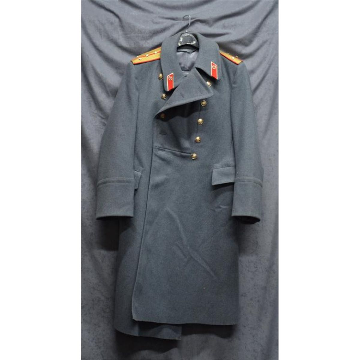 Russian military long coat in overall very good condition, gray ...