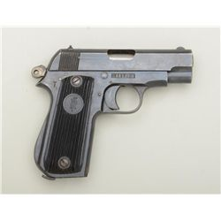 """French """"Unique"""" semi-auto pistol, 7.65mm  cal., 3"""" barrel, blue finish, grooved hard  rubber grips,"""