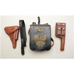 """Bonanza large lot of approx. 25 original and  reproduction holsters including several  original """"cla"""