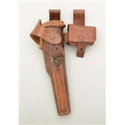 Scarce leather military KM (Kreigs Marine)  holster for a Colt Model 1851 percussion  revolver, with