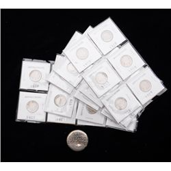 """Lot of a 5.19 sterling 999 """"button"""" from  refiner (approx. $175 @ spot Jan. 2012) and  32 circulated"""