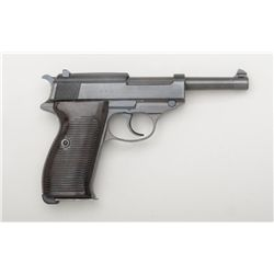 "German Mauser P-38 DA semi-auto pistol, byf  43 marked and nazi proofed, 9mm cal., 5""  barrel, milit"