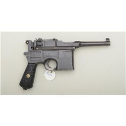 "Mauser bolo model C-96 semi-auto pistol,  import-marked, 4"" barrel, blue finish,  unusual raised flo"
