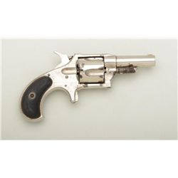 "Remington No. 4 spur trigger revolver, .38  cal., 2-1/2"" barrel, nickel finish, checkered  hard rubb"