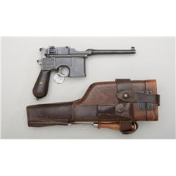"German Broomhandle Mauser Model C-96  semi-auto pistol, 7.63mm cal., 5-1/2"" barrel,  blue finish, gr"
