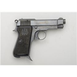 "Beretta Model 1934 semi-auto pistol, .380  cal., 3-1/2"" barrel, blue finish, checkered  black plasti"