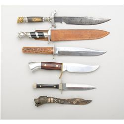 Lot of six misc. collectible knives including  a Case XX dagger with wood grips; a Westmark  skinner
