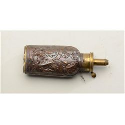 Classic dueling pistol type flask circa  1840-1860, signed Frary-Benham & Co. in rib  and on top.  3