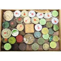 Bonanza lot of approx. 50 percussion cap  tins, various sizes, makers including  Winchester, Remingt