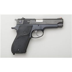 "Smith & Wesson Model 39-2 DA semi-auto  pistol, 9mm cal., 4"" barrel, blue finish,  Pachmayr wrap aro"