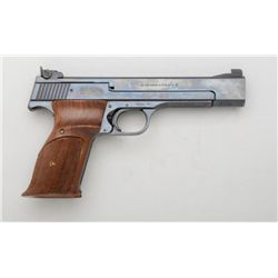 "Smith & Wesson Model 41 semi-auto target  pistol, .22LR cal., 5-1/2"" barrel, blue  finish, checkered"